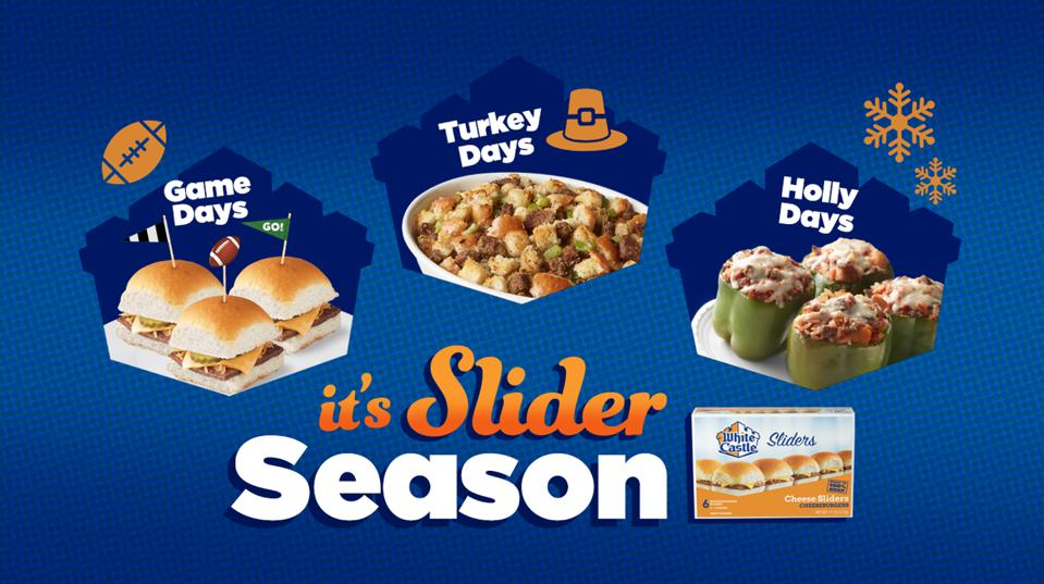 Holiday recipe ideas for using White Castle Sliders to make Thanksgiving stuffing and stuffed peppers for Christmas