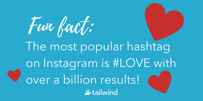 Love is the most popular hashtag on Instagram