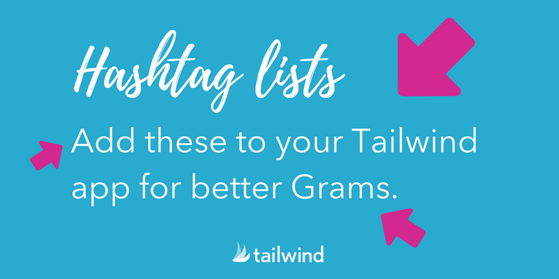 Add hashtag lists to your Tailwind for Instagram account