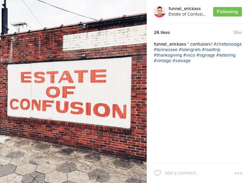 Eric Kass - Estate of Confusion Instagram Photo