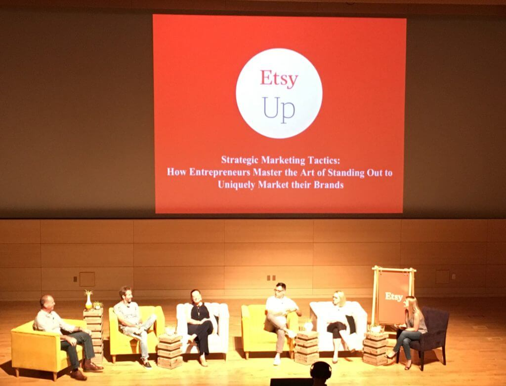 Getting advice from people outside the Etsy community in this session on Strategic Marketing at Etsy Up