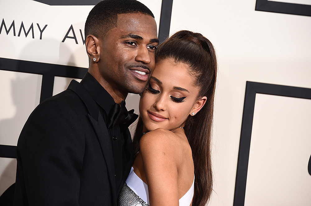 Big Sean, left, and Ariana Grande arrive at the 57th annual Grammy Awards at the Staples Center on Sunday, Feb. 8, 2015, in Los Angeles. (Photo by Jordan Strauss/Invision/AP)