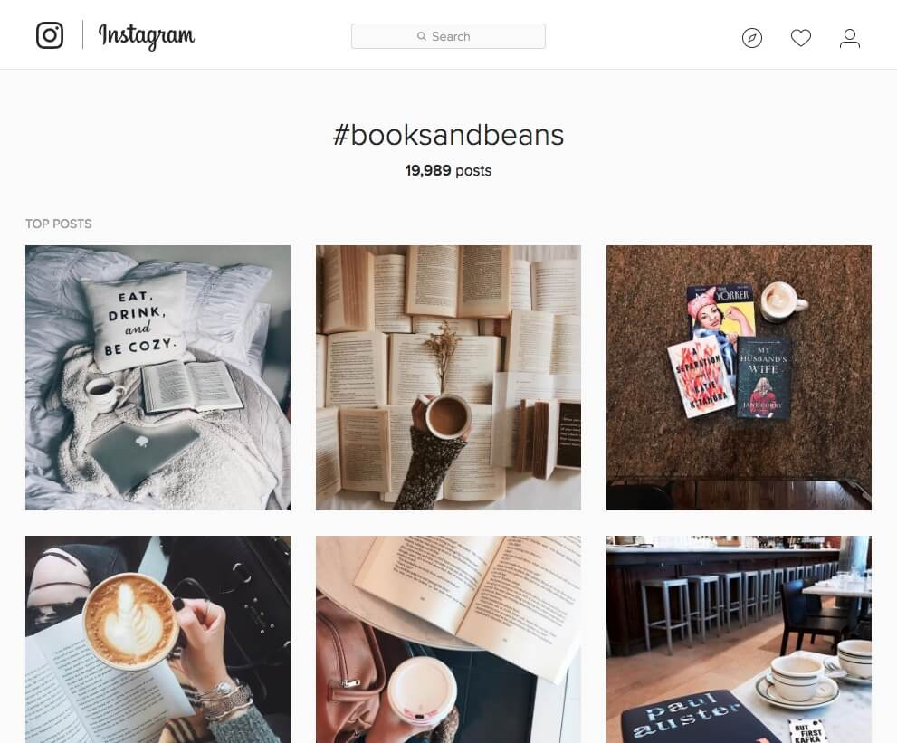 Books and Beans on Instagram