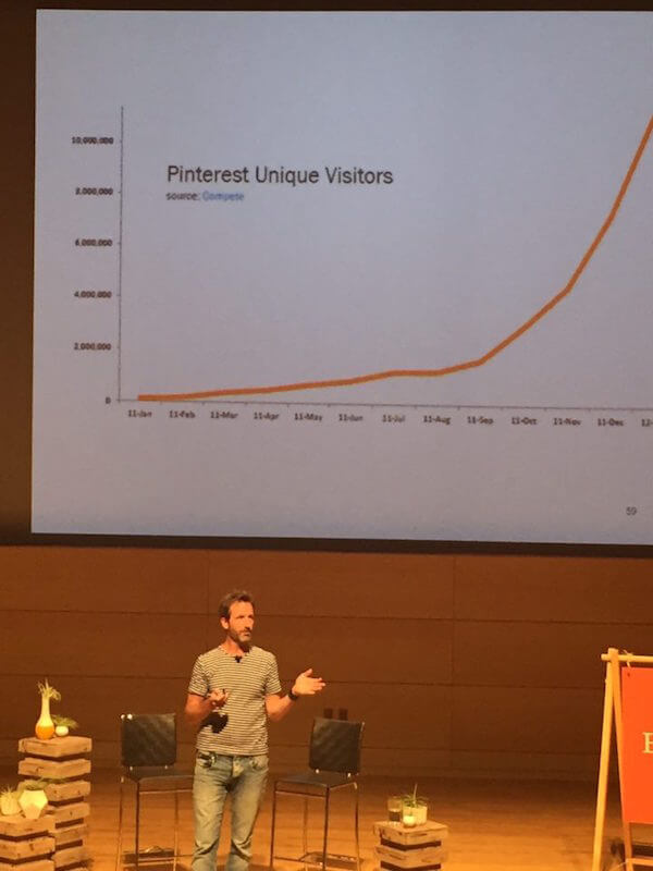 Maxwell Ryan showing the business-changing impact of a well-executed social media strategy at Etsy Up