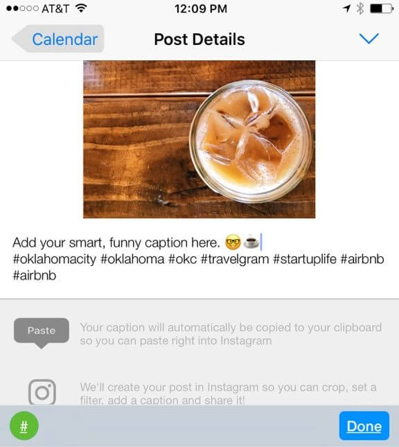 Hashtag List in Tailwind for Instagram