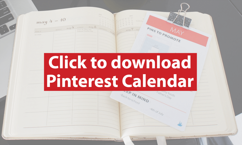 Click to Download Your Printable Pinterest Content Calendar