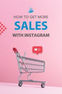 Image of shopping cart with the text: How to Get More Sale with Instagram