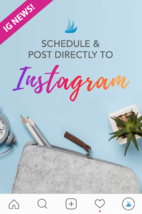 Clock, Pencils, and Plant Flatlay with Text New! Schedule & Post Directly to Instagram