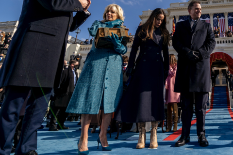A photo of the Bidens at the 2021 Inauguration