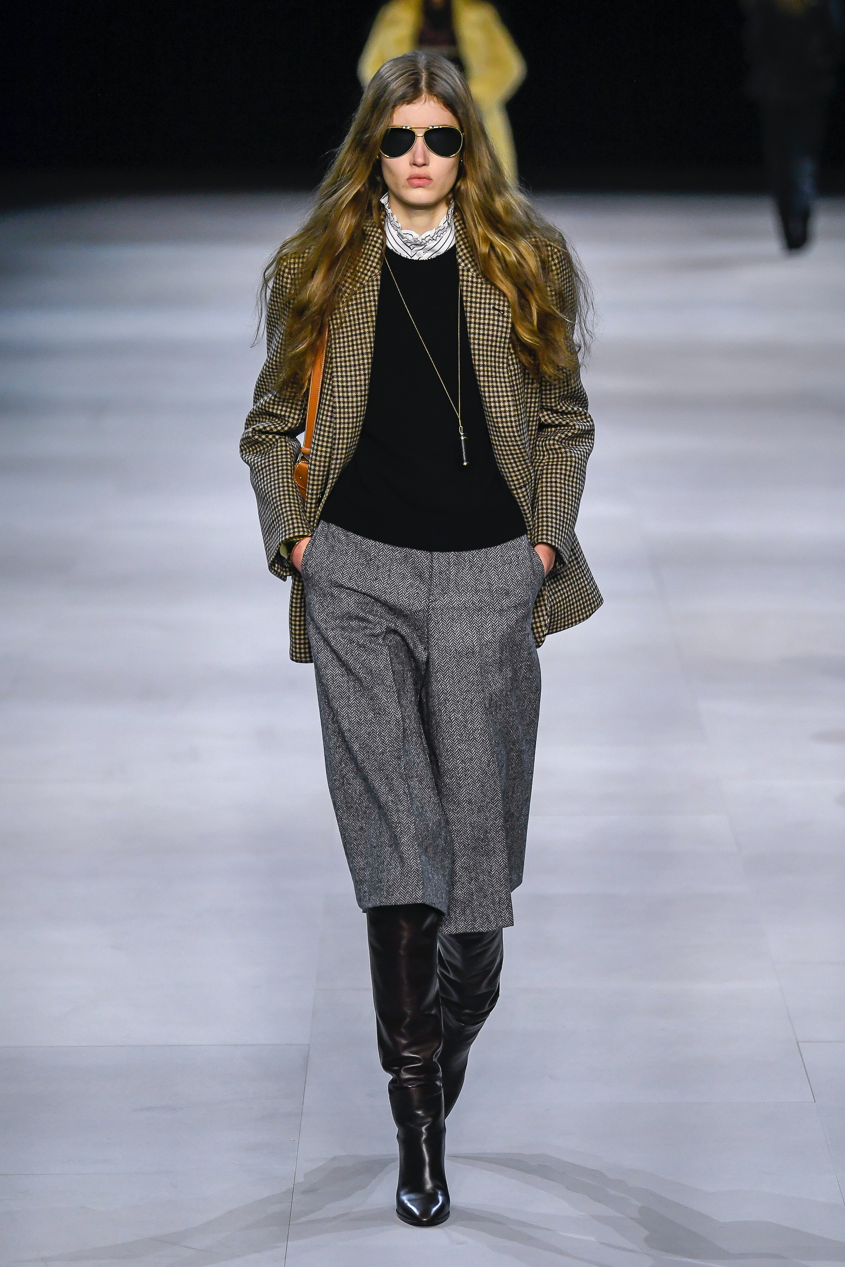 For fall 2019, Slimane pivoted to a 70s inspired,