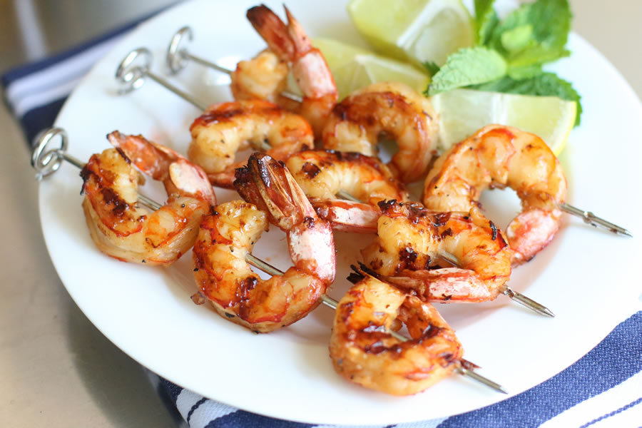 perfectly grilled shrimp made with Ninja Foodi Grill