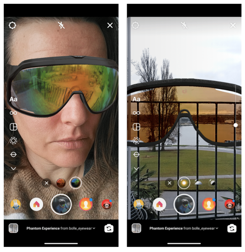 Instagram virtual try-on Bolle Brands