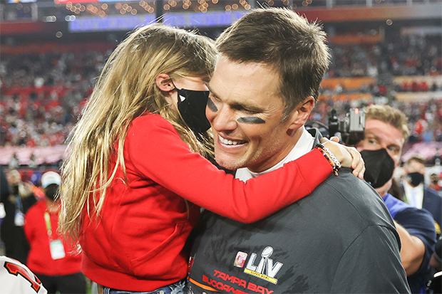 Tom Brady & his family at Super Bowl 2021