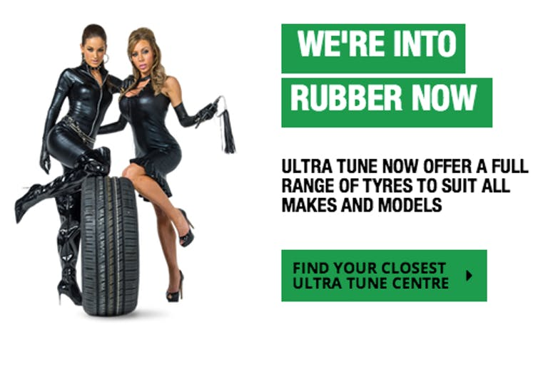 Ultra Tune's 'Get into rubber' campaign was the second most complained about ad in 2016.