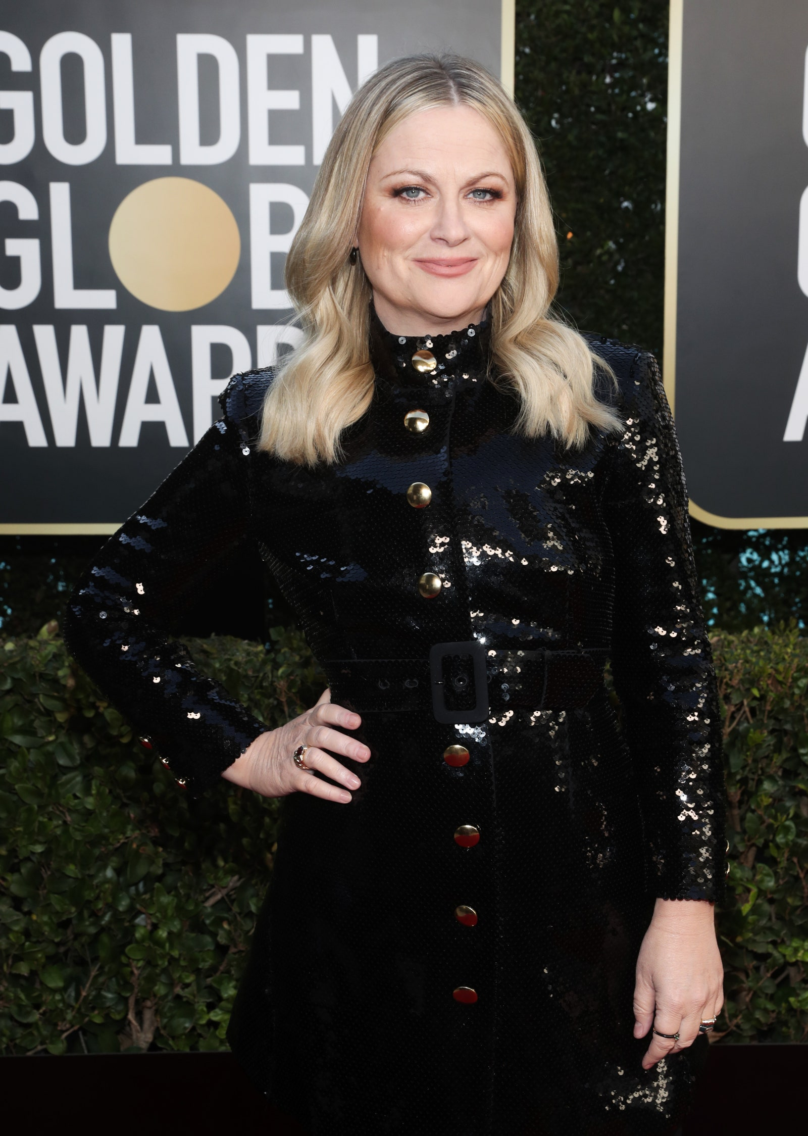 BEVERLY HILLS CALIFORNIA 78th Annual GOLDEN GLOBE AWARDS  Pictured Cohost Amy Poehler attends the 78th Annual Golden...