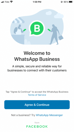 WhatsApp business terms and conditions