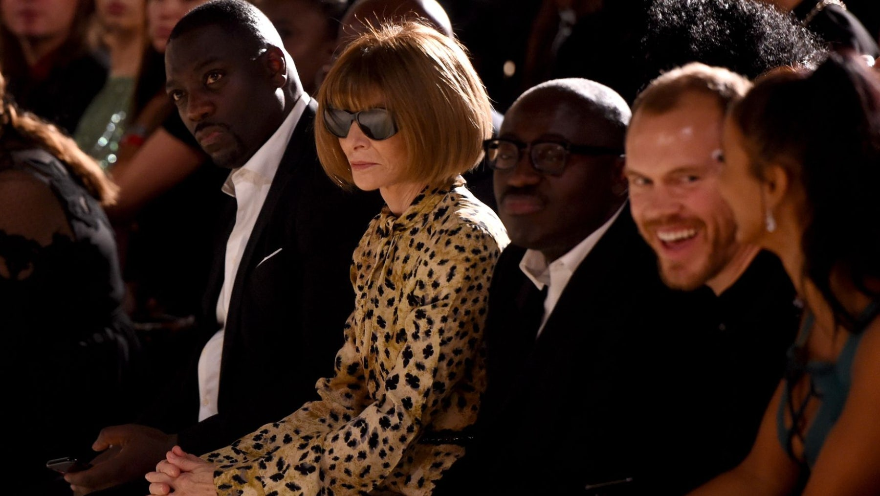 Anna Wintour and Edward Enninful in London. Getty Images.