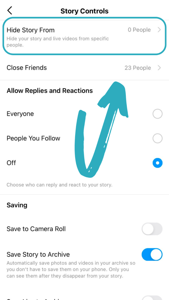 Instagram Live settings - how to hide your Live from certain people