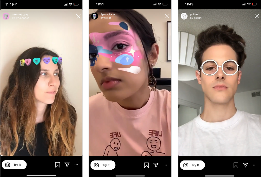 AR Filters Examples